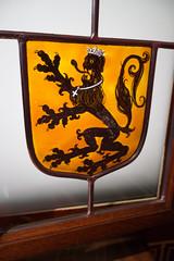 Heraldic lion (quinet) Tags: 2014 belgium bruges glasmalerei lwe wappen blason coatofarms lion stainedglass vitrail antwerp flanders