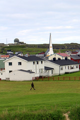 Vardø Village - With Globus II Radome and Church (Phil Masters) Tags: 19thjuly july2016 norwayholiday norway vardo vardø vardohus vardøhus vardohusfortress vardøhusfortress vardøchurch vardochurch globus globusii globusradar globusiiradar globusradome globusiiradome radome radar