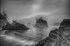 Secret Beach (Bent Hermit Photography) Tags: beach secretbeach goldbeach oregon coast fog