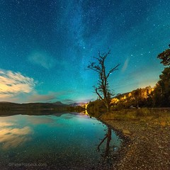 Loch Ard with Ben Lomond (Peter Ribbeck) Tags: scotland night lomond trossachs lochard