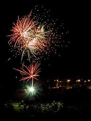 Oktoberfest firework (dado8891) Tags: italy cuneo sky autumn 2016 fireworks oktoberfest color olympus september night