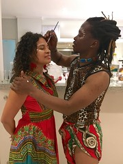 "Getting ready for the African night. Face painting by the one and only amazing dancer and choreographer Bheki.  #MzansiCapeTownSalsaFestival #MCTSF2016 #4ismore  SA, Nov 2016 • <a style=""font-size:0.8em;"" href=""http://www.flickr.com/photos/147943715@N05/30298119834/"" target=""_blank"">View on Flickr</a>"