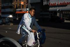 Half (dtanist) Tags: nyc newyork new york city newyorkcity sonya7 contax zeiss carlzeiss carl planar 45mm brooklyn bensonhurst elevated tracks subway bicycle bike bicyclist cyclist