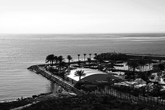 Sunset over the Movenpick hotel in Beirut (matthodgkin) Tags: winner lebanon beirut classic depthoffield mono air country bright waves panorama contrast boats coast port natural evening travel travelphotoraphy beach beautiful bw blackandwhite water shore dof bench wasser naturaleza lines mar landschaft lighthouse pond outdoor exposure field