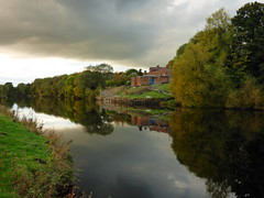 Reflections (davidntaylor1968) Tags: reflection water nature horizontal tree cloudsky sky nopeople outdoors day riverbank autumn photography october countryside landscape tranquilscene tranquility beautyinnature agriculture wildlife trees waterreflections