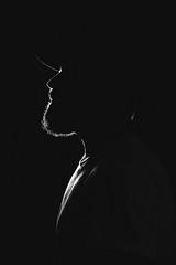 Myself (rafaj39) Tags: casa flash rafa retrato blancoynegro perfil portrait profile black white barbudo bearded