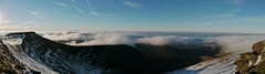 Cloud inversion seen from the summit of Pen y Fan, Brecon Beacons (Mumbles Head) Tags: wales mountains penyfan breconbeacons snow winter panorama