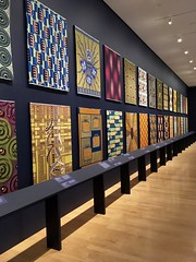 Vlisco on Display (Rachel Strohm) Tags: philadelphiamuseumofart africa africanart creativeafrica vlisco kitenge waxprint cloth pattern patterns design exhibit