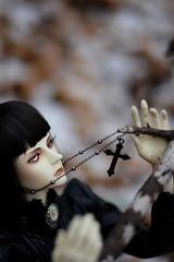 011 (Kumaguro) Tags: bjd dollshe husky dollshehusky dollsheoldhusky autumn earlywinter cross dark gothic