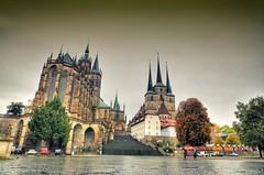 Erfurt - Erfurter Dom - Severikirche (Ventura Carmona) Tags: alemania germany deutschland thringen erfurt erfurterdom catedraldeerfurt severikirche domplatz venturacarmona