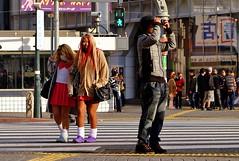 Gyaru (burnt dirt) Tags: shibuya tokyo japan asian japanese shibuyastation shibuyacrossing centergai shibuyahalloween halloween cosplay costume gyaru legwarmers crocs girls