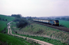 33033 Cardiff-Salisbury nr Gt Wishford 04-04-1988 (the.chair) Tags: 33033 1400 cardiffsalisbury nr gt wishfordf april 1988