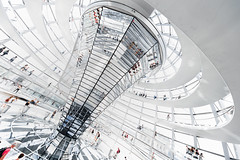 The colourful little people (Panda1339) Tags: berlin germany architecture staircase spiral dome bundestag nikon 14mm highkey