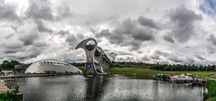 Falkirk Wheel (Jean-Paul Navarro) Tags: scotland summer 2016 highlands unitedkingdom isles falkirk wheel forth clyde canal union rotating boat lift