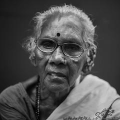 Wrinkle is beauty :) (Well-Bred Kannan (WBK Photography)) Tags: wbkphotography wbk wellbred kannanmuthuraman kannan nikon nikond750 d750 india indian weekendwalk blackandwhite bw blackwhite monotone mono monochrome msb madrasshutterbugsportraitpeoplegirlbrickkiln portrait grandmother hardlife