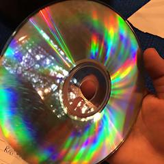 Home-Made Rainbow (glantine) Tags: arcenciel rainbow faitmaison homemade cd light lumire myles disquecompact