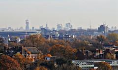 A London skyline (Dun.can) Tags: parliamenthillfields nw3 parliamenthill hampstead emiratesstadium olympicstadium arcelormittalorbit londonskyline skyline autumn trees crane london