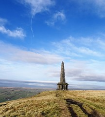 Really windy (backseatsnoozer) Tags: ramblers stoodley pike moor manchester yorkshire todmorden shadows