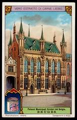 Liebig Tradecard S1170 - Town Hall, Bruges (cigcardpix) Tags: tradecards advertising ephemera vintage liebig architecture