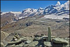 The way to the Cabane of Matterhorn & Hrnly ,A view of  Monte Rosa & The Gornergratt . No. 1682. (Izakigur) Tags: zermatt alps alpen alpes glacier monterosa matterhorn hiking switzerlnad myswitzerland musictomyeyes lasuisse laventuresuisse swiss suiza suisia valais gornergrat izakigur feel fixyou