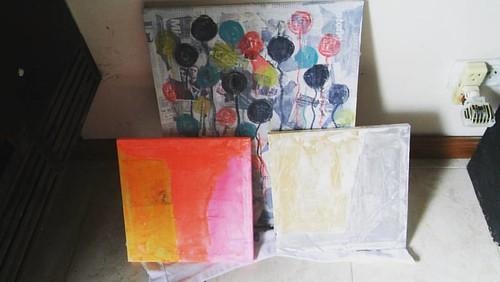 #pintura #pintando #domingo #artist #arteabstracto #art #workinprogress #abstractart Nuevo comienzo. Una y otra vez.
