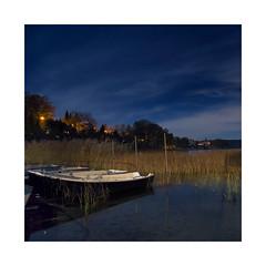 Schermtzelsee (derkleinebiber) Tags: night supermoon stars schermtzelsee boats boote ruderboot nachtaufnahme brandenburg buckow mrkische schweiz naturpark see lake blue