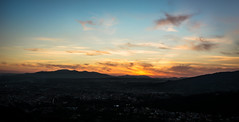 Winter Sunset (LaPille) Tags: sunset sunbeams mountains sky clouds winter wintersunset landscape appennini tuscany italy montecatini italia toscana paesaggio tramonto