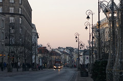 november afternoon in Warsaw (kinaaction) Tags: poland warsaw sonyilce6000 helios44m4 afternoon street city buildings streetlamps