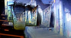 Graffiti Explosion on Screen (byzantiumbooks) Tags: panosabotage graffiti moiré moire