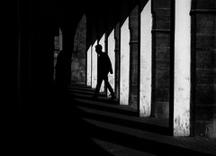 Moroccan streets (Georgie Pauwels) Tags: blackadnwhite colonnade portico morocco street streetphotography olympus geometry silhouette outline candid