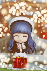 It's the happiest season of all ♥ (Shimiro Kestrel) Tags: nendo nendomania nendoroid tomoyo cardcaptorsakura cute kawaii christmas bokeh toy toyphotography