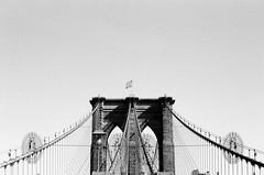 brooklyn (MitchBoudreau) Tags: nyc nycfilm newyork brooklyn newyorkcity bridge brooklynbridge blackandwhite monochrome film 35mm contrast composition summer sky analog shadows usa america ilforddelta 50iso prime beautiful wallpaper outdoor filmgrain grain