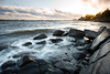 Wet rocks and setting sun (- David Olsson -) Tags: skutberget karlstad sweden värmland lake vänern water vatten rocks stones sunset sundown landscape seascape lakescape nature outdoor clouds waves wavy windy winds leefilters 06hard gnd grad nikon d800 1635 1635mm 1635vr vr fx davidolsson 2016 november
