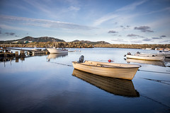 Boat in the Archipelagos    Norway (achilles.l) Tags: ocean lighting trip morning blue houses sunset sea nature water norway sunrise lens landscape photography boot evening coast licht boat scenery meer wasser ship fotografie t