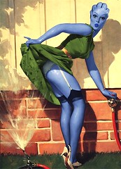 Asari Cools Off (4peepsake) Tags: sexy alien retro scifi sciencefiction pinup asari