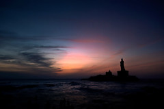 Lets bring the sunshine !!! (Anand Raghavan) Tags: morning cloud beach water sunrise tamilnadu kanyakumari thiruvalluvar thirukural ragavanands