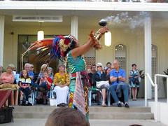 Holding the Incense for Yankuititl (Robb Wilson) Tags: glendale incense aztecs religiousceremony brandlibrary aztecdancers ritualdance freephotos yankuititl aztecmusic