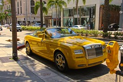 yellow (Richi Zihlmann) Tags: car yellow drive convertible hills rodeo beverly rolls royce