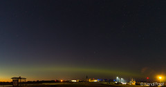 Aurora Borealis (K3ndu) Tags: bus green station night clouds marina canon stars eos lights dc estonia harbour violet sigma aurora northern 1770 borealis kuressaare saaremaa roomassaare 1100d