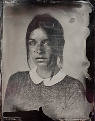 Lenaig (Vincent Paulic) Tags: portrait wet studio plate retro tintype 4x5 ferrotype humide collodion
