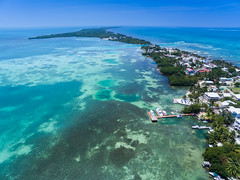 A view from the south to the Split in Caye Caulker, Belize
