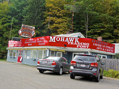 Mohawk Trading Post, Shelburne Falls, MA (Robby Virus) Tags: sign souvenirs store neon post native massachusetts indian tourist business trail gifts american trading signage western mohawk trap moccasins shelburnefalls