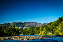 Pitlochry is the highland holiday picture postcard resort on the river Tummel (grahamrobb888) Tags: scotland highlands nikon perthshire sunny d5100