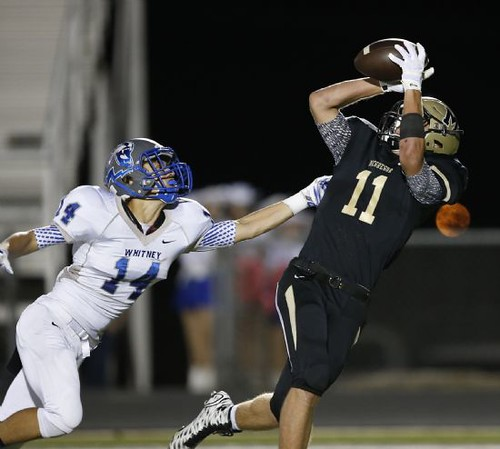 """Great catch over the Whitney DB. Junior year. 10.2.2015. • <a style=""""font-size:0.8em;"""" href=""""http://www.flickr.com/photos/38444578@N04/21352932293/"""" target=""""_blank"""">View on Flickr</a>"""