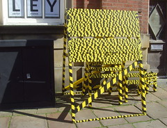 Lancashire Encounter - danger tape (Tony Worrall) Tags: show county street uk england urban black colour colors yellow danger warning stream tour open place northwest unitedkingdom country north visit location lancashire strip area preston even activity northern update tapes attraction programme uclan lancs xperience welovethenorth 2015tonyworrall lancashireencounter