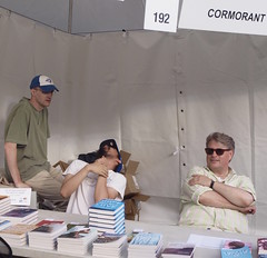 In the dying minutes of word on the street (stephenweir) Tags: toronto festival books lakeside harbourfront lakeontario strangled wordonthestreet booktent torontoontariocanada marccote cormorantbooks selfstrangling wotsto freebookexpo strangledbybooks