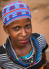 Benin, West Africa, Copargo, a beautiful tattooed fulani peul tribe woman (Eric Lafforgue) Tags: poverty africa girls portrait people woman color girl beauty vertical tattoo female rural outdoors necklace clothing women colorful pretty muslim islam headscarf young culture teenagers tribal tattoos westafrica tribes nomad benin tradition tribe adolescent facial nomads oneperson fulani headwear headandshoulders headgear traditionalclothing peul onewomanonly lookingatcamera fula colourimage africanethnicity pastoralists 1people بنين copargo ベナン бенин 贝宁 benin4568