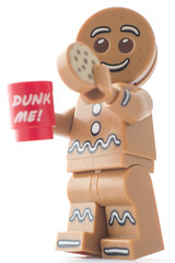 Good afternoon (tea and biscuits), Clarice (tomtommilton) Tags: man macro film cup coffee monster movie toy toys photo cookie lego eating gingerbread biscuit photograph snack legos minifig minifigs supermacro hannibal cannibal lecter minifigure afol minifigures