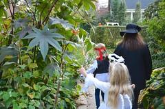Still Trick-Or-Treating (Joe Shlabotnik) Tags: halloween lily violet sarahp 2015 afsdxvrzoomnikkor18105mmf3556ged october2015