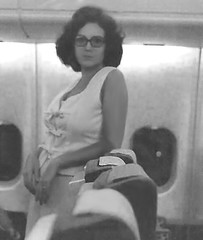 Sugar on plane to Texas (Sugarbarre2) Tags: woman hot black white wife hair s vacation mom granny